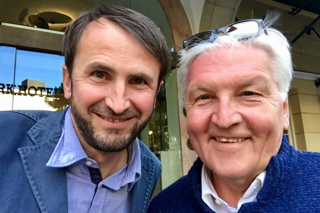 Selfie mit dem Bundespräsidenten Frank Walter Steinmeier