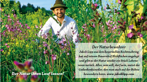 Presseartikel mit dem Motto: Jakob Lipp ist ein Naturbewahrer
