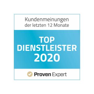 Kundenmeinungen 2020 - Top Dienstleister bei Proven Expert