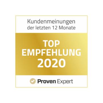 Top Empfehlung 2020 bei Proven Expert für Jakob Lipp