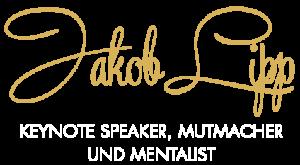 Logo Jakob Lipp, Keynote Speaker, Mutmacher und Mentalist