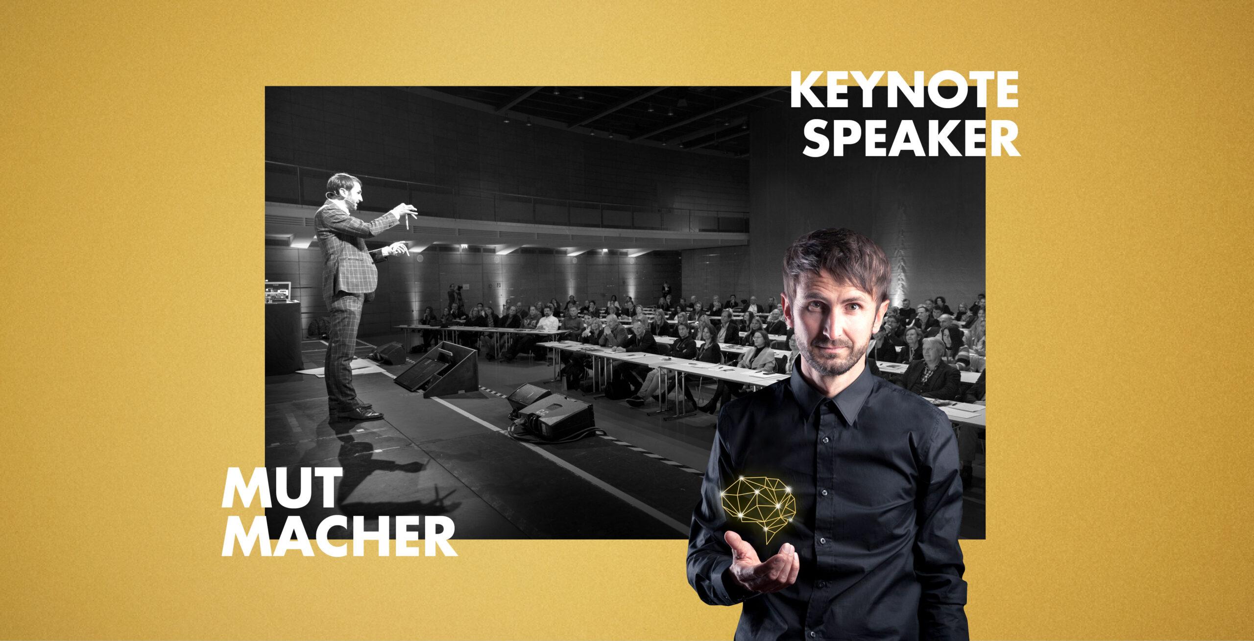 Keynote Speaker und Mutmacher Jakob Lipp vor b2b-Publikum
