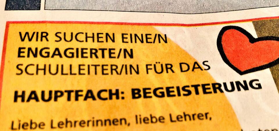 "Hauptfach ""Begeisterung"""